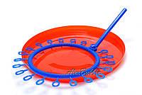 Синяя ракетка для мыльных пузырей «Солнышко» 36 см + Тарелка