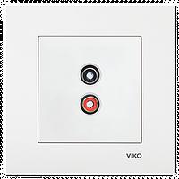 Аудиорозетка для динамиков VIKO Karre Белый (90960037)