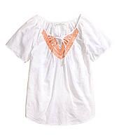 Блуза белая с вышивкой H&M