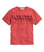 Футболка мужская красная H&M, Размер: XL