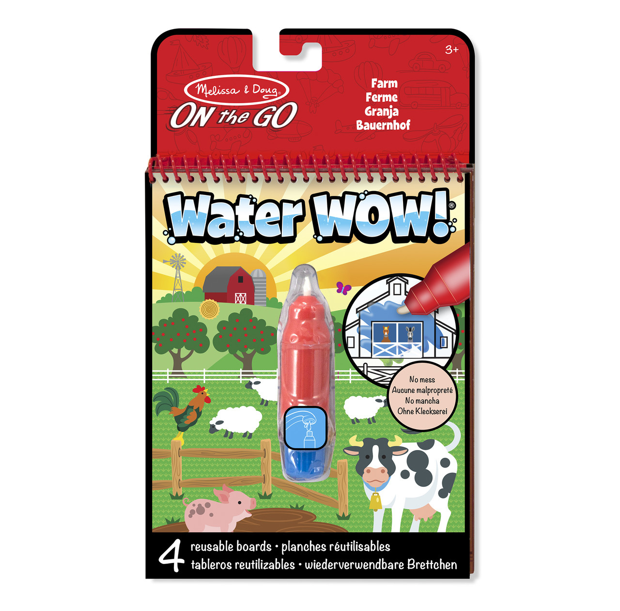 Волшебная водная раскраска Домашняя ферма Melissa & Doug (MD19232)