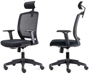 Кресло офисное с регулируемыми подлокотниками Enrandnepr Акцент черный