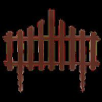 """Набор ограждение для газона """"Заборчик"""" (4в1) терракот"""