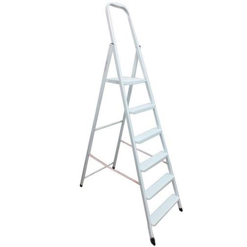 Стремянка металлическая, белая, Werk, 35445