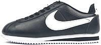Женские кроссовки Nike Cortez Basic Leather Black (Найк Кортез, черные)
