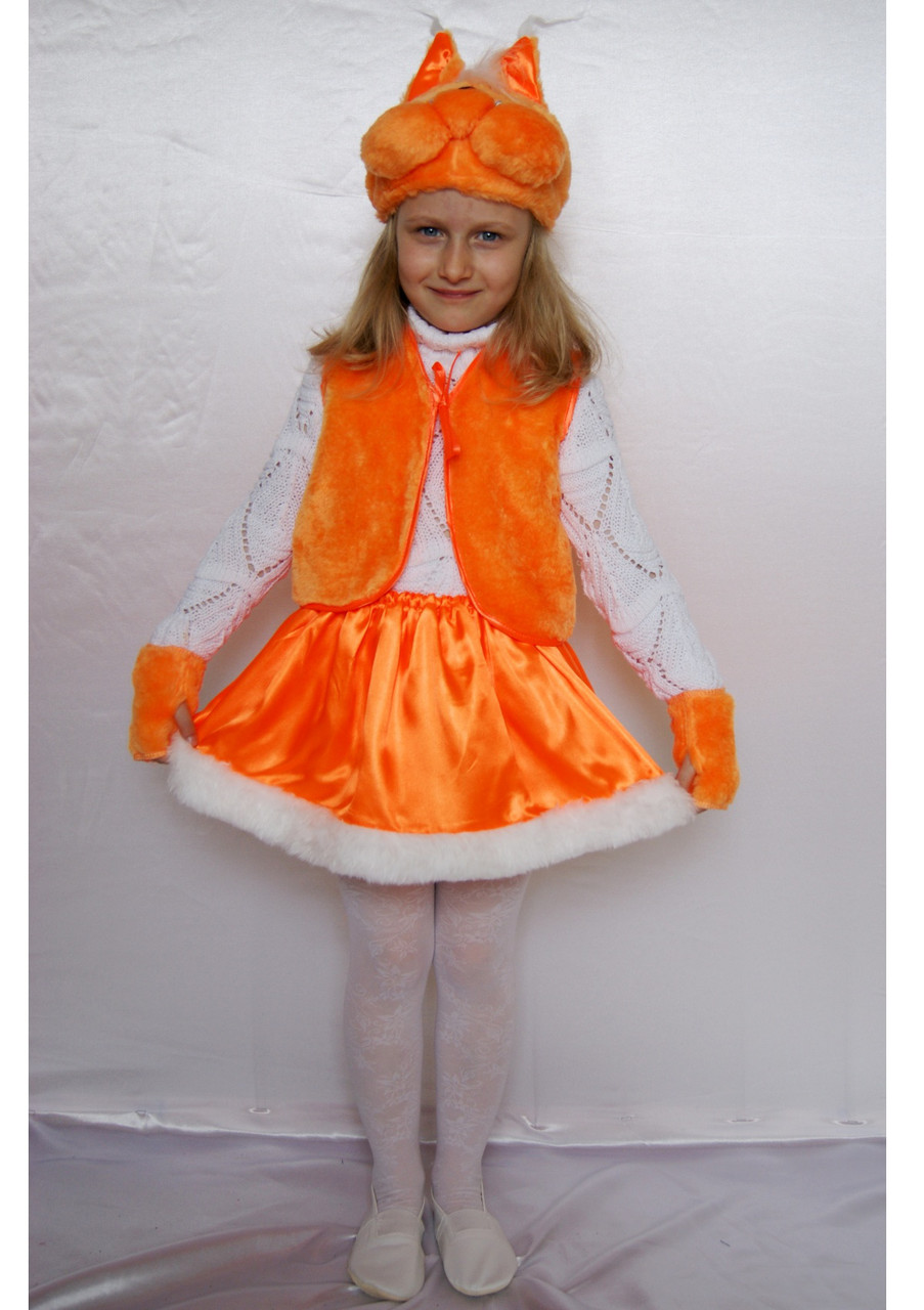 Маскарадный костюм Белочка для девочки 3-6 лет