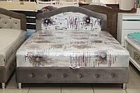 Ліжко двоспальне з нішею для білизни