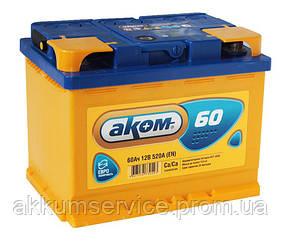 Аккумулятор автомобильный АКОМ 60AH L+ 520A
