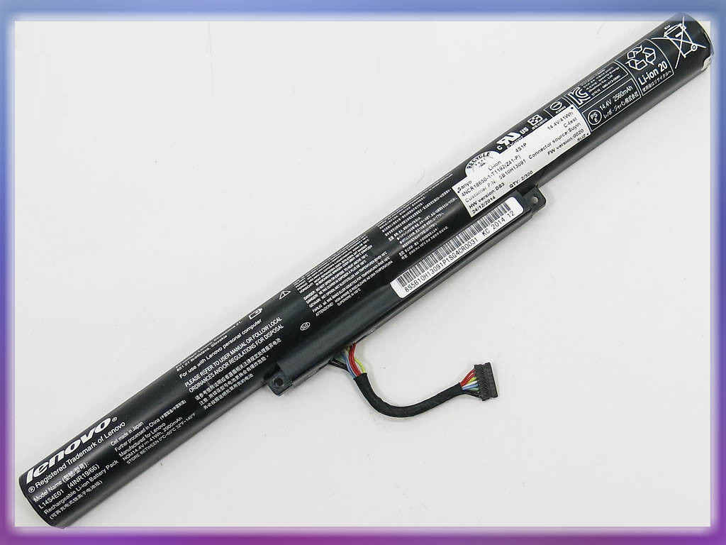 Батарея Lenovo L14S4E01 IdeaPad 500-15ACZ (14.4V 2900mAh 41Wh Black) O
