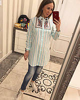 Рубашка женская вышитая 3 цвета до 50 р