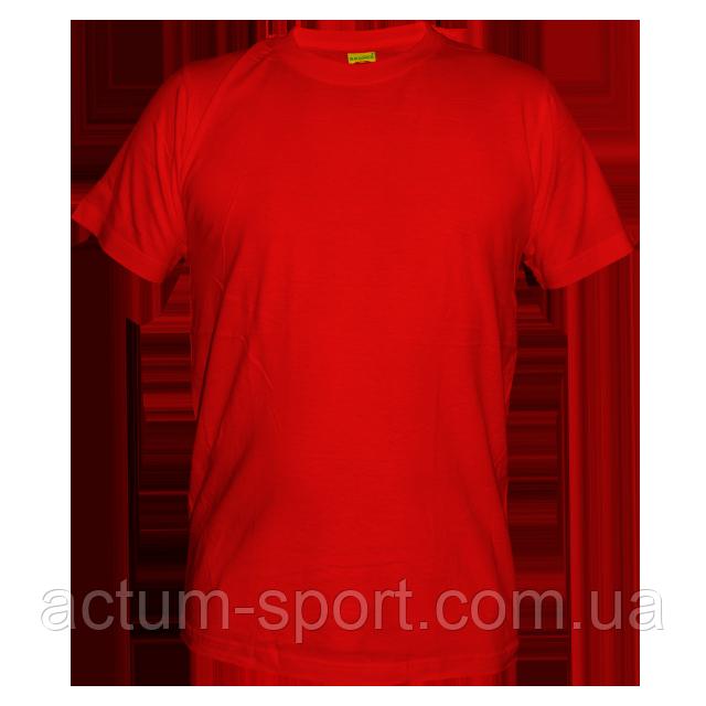 Футболка мужская хлопок красный L