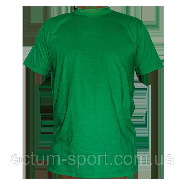Футболка мужская хлопок зеленый XXS