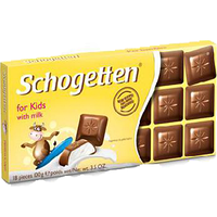 Шоколад Schogetten for Kids - Молочный шоколад для детей