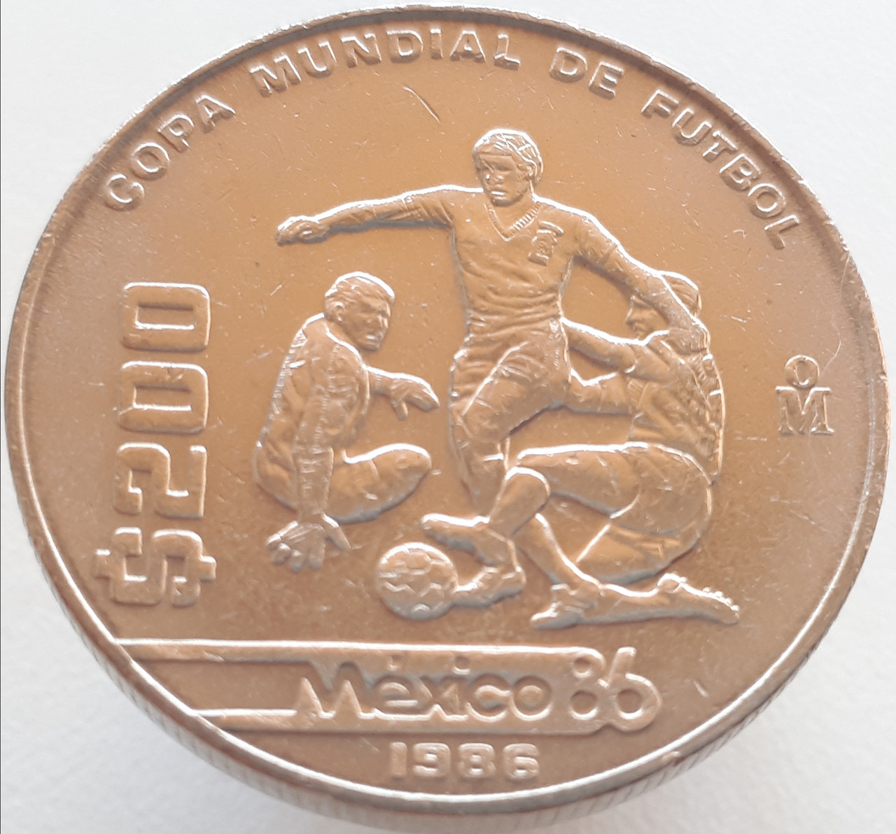 Мексика 200 песо 1986 - Чемпионат мира по футболу 1986