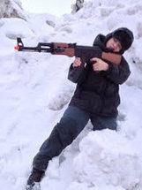 Автомат Калашникова АК-47+ИК прицел и фонарик Игрушечное оружие Детский Автомат Калашникова АК-47 M 3211-A4 , фото 2