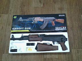 Автомат Калашникова АК-47+ИК прицел и фонарик Игрушечное оружие Детский Автомат Калашникова АК-47 M 3211-A4 , фото 3