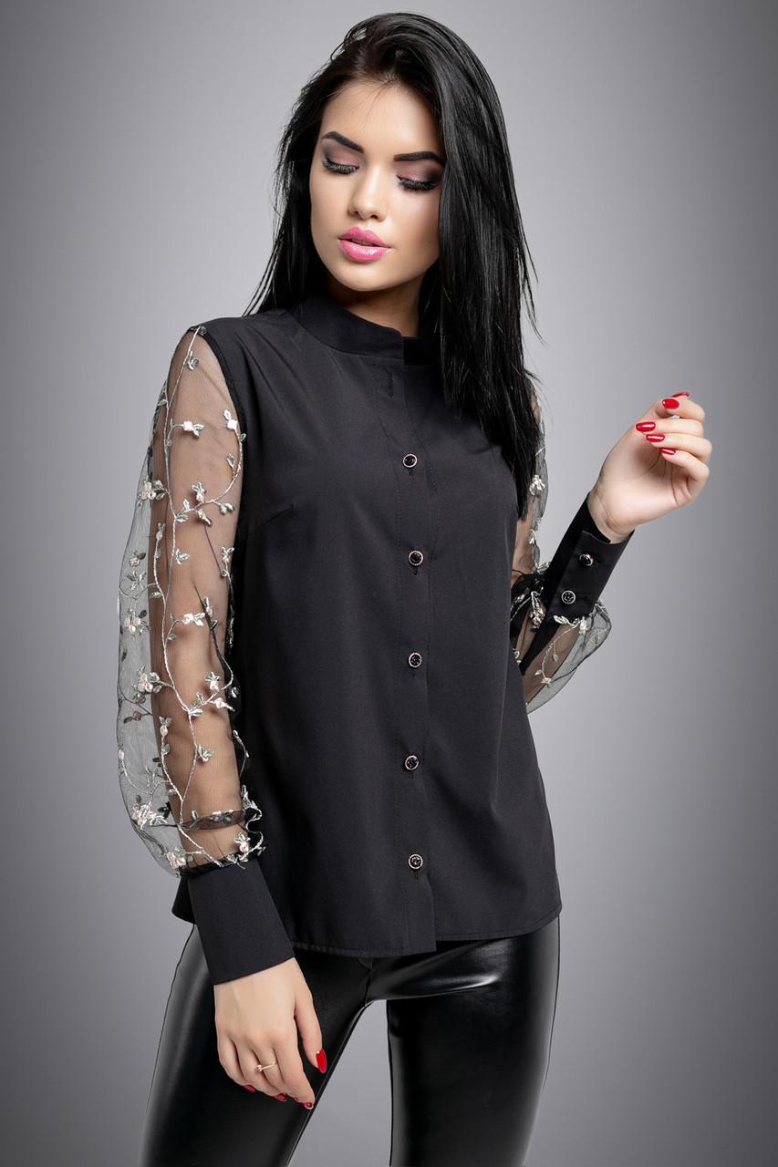 Красивая женская Блуза 2713 черный