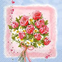 Салфетки декупажные Букет роз 23