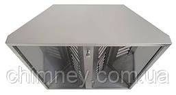 Зонт нержавеющий 0.5 мм без жироуловителей CHIMNEYBUD, 1300x700 мм