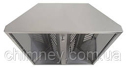 Зонт нержавеющий 0.5 мм без жироуловителей CHIMNEYBUD, 1400x700 мм