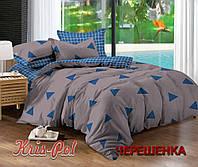 Семейный набор хлопкового постельного белья из Сатина №433AB KRISPOL™