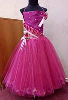 6.35 Шикарное нарядное детское платье на 4-7 лет цвета фуксии