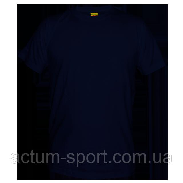 Футболка мужская хлопок т.синий S