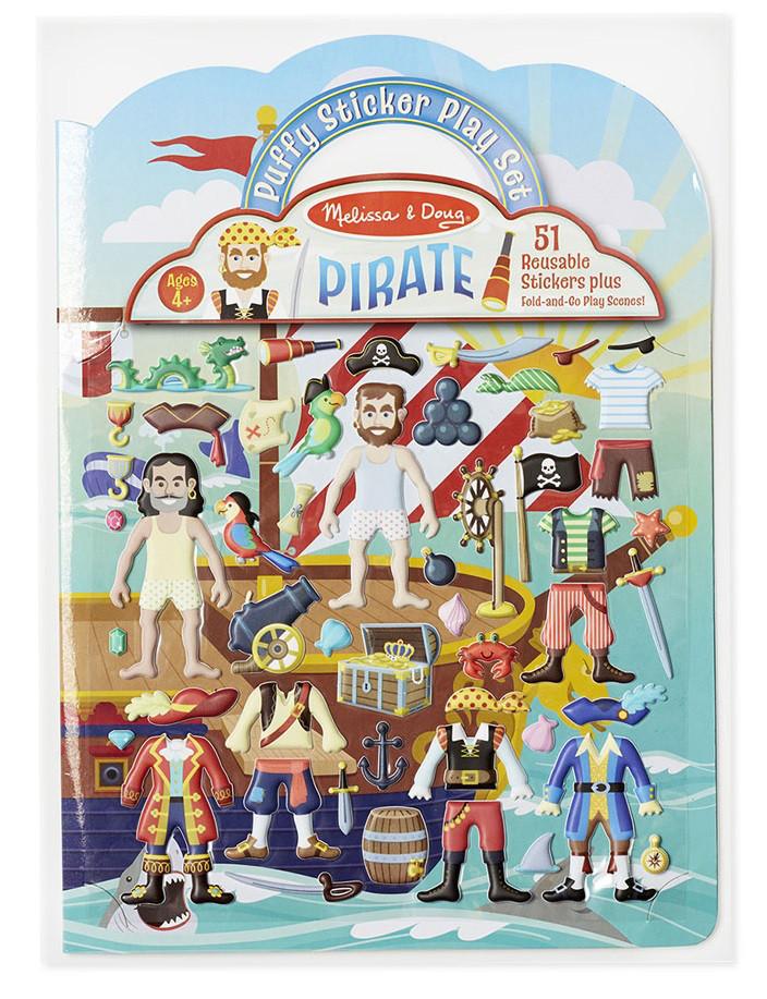 Об'ємні багаторазові наклейки Пірати Melіssa & Doug (MD9102)