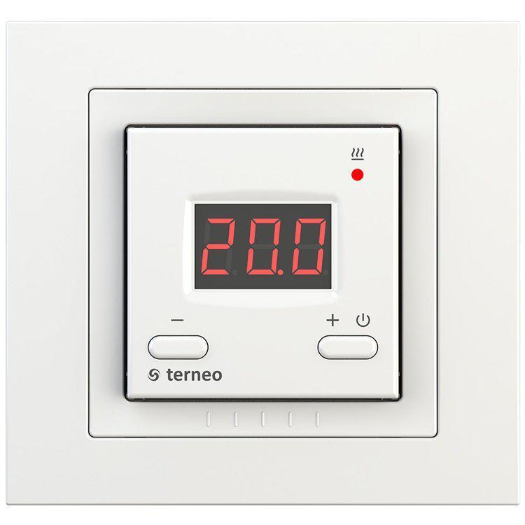 Терморегулятор для теплого пола Terneo st  цвет - Белый