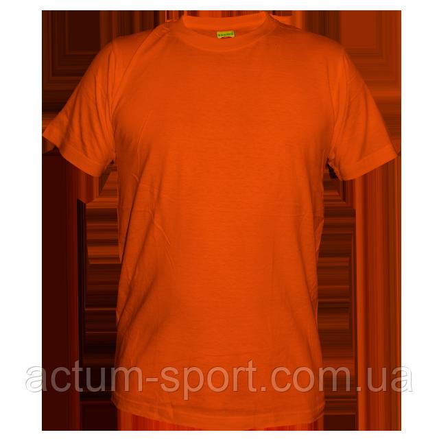 Футболка мужская хлопок оранжевый XL