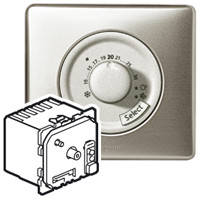 Термостат комнатный - диапазон регулировки температуры от +7°C до +30°C - Программа Celiane