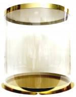 Ексклюзивная коробка для торта золото\прозр.300\265 Украина-03504