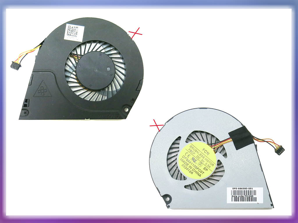 Уценка! Вентилятор (кулер) HP Envy 4-1000, 6-1000, 6-1100 (DFS541105FC