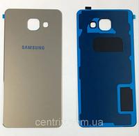 Задняя крышка для Samsung A320F Galaxy A3 (2017), золотистая, оригинал