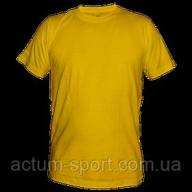 Футболка мужская хлопок желтый