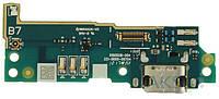 Шлейф Sony G3311 Xperia L1 / G3312 Xperia L1 Dual / G3313 Xperia L1 c разъемом зарядки  и микрофоном Original