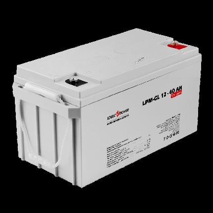 Гелевый аккумулятор Logic Power LPM-GL 12V 40AH (12 Вольт, 40 Ач)., фото 2