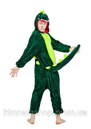 Кигуруми Динозавр зеленый  продажа 851d5615db06f