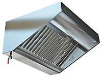 Зонт нержавіючий зварної 0.8 мм без жироуловлювачів CHIMNEYBUD, 1300x1600 мм