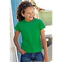Детская классическая футболка для девочек Valueweight Girls 61-005-0