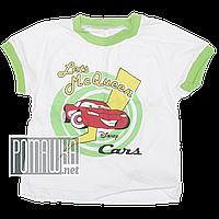 Детская футболка для мальчика р. 98-104 ткань КУЛИР-ПИНЬЕ 100% тонкий хлопок ТМ Ромашка 4285 Зеленый