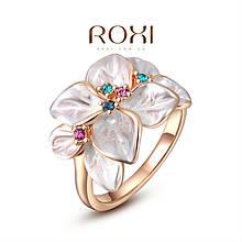 Кольцо Roxi с изысканным красочным цветком покрытие циркон