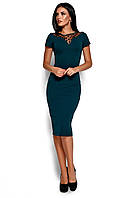 Зеленое платье-футляр, фото 1