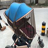 Москитная сетка на коляску универсальная Коричневая, фото 2
