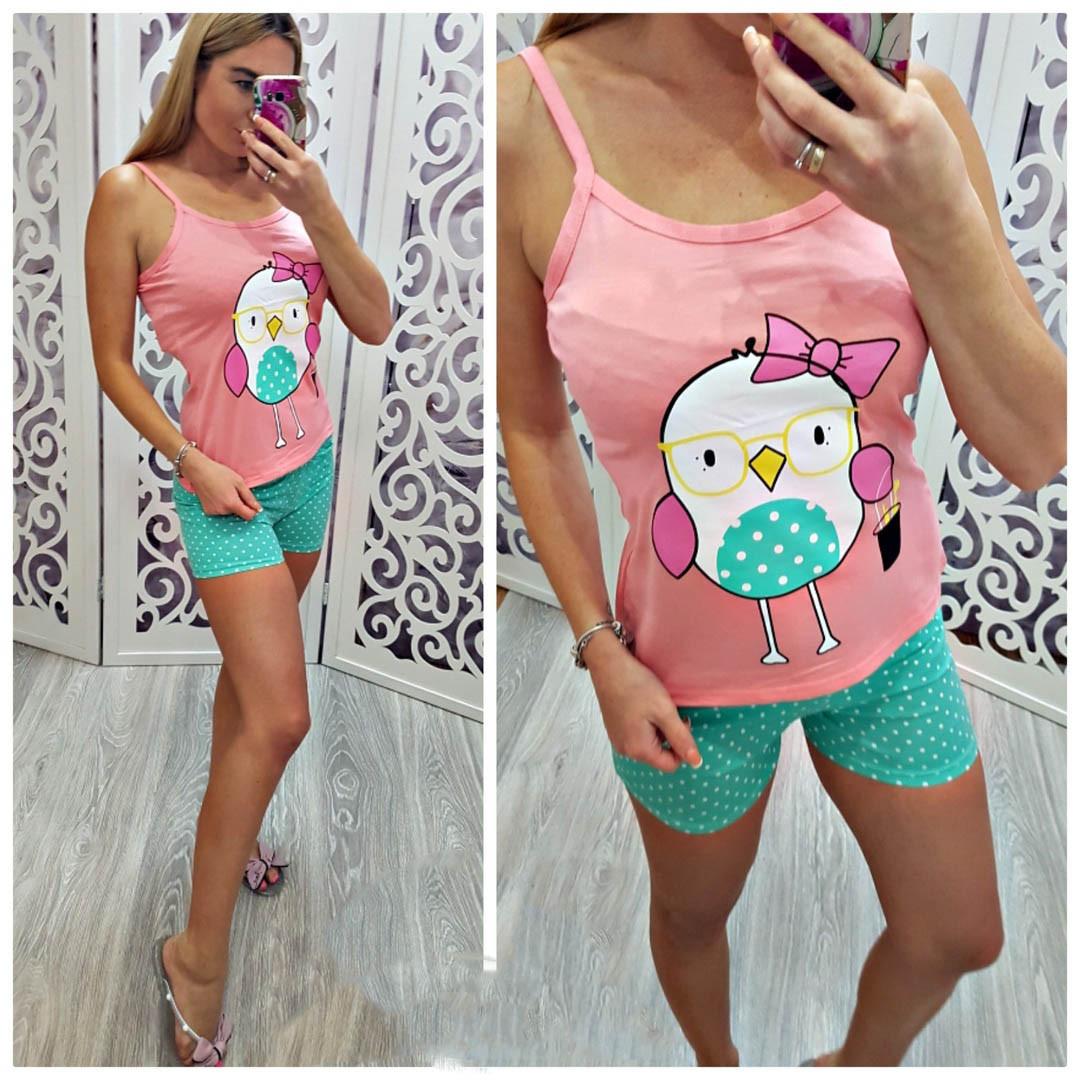 Пижама -костюм  майка+шорты