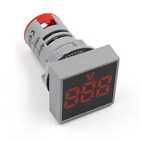 Цифровой вольтметр AC 20-500V красный AD101-22VMS панельный