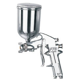 Краскопульт пневматический  тип HP верхний металлический бачок, диаметр форсунки-1,5мм  AUARITA   F-75G-1.5