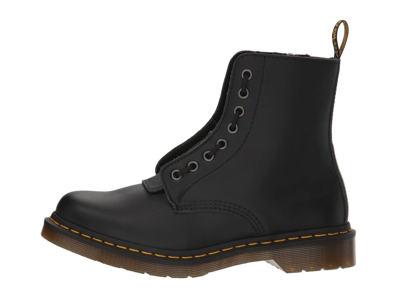 ... Ботинки Сапоги (Оригинал) Dr. Martens 1460 Pascal Front Zip Black  Nappa 3ba16762016b9