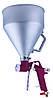 Распылитель пневматический для нанесения штукатурки металлический бачок AUARITA   FR-300