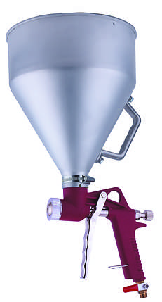 Распылитель пневматический для нанесения штукатурки металлический бачок AUARITA   FR-300, фото 2